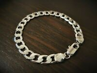 Men's 925 sterling silver bracelet chain link +**Free gift bag included**