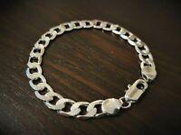 Men's 925 sterling silver bracelet chain link +**Free gift bag included**