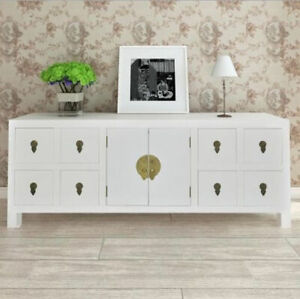 Vintage Sideboard Furniture White Large Cabinet Storage Cupboard Chest Drawers