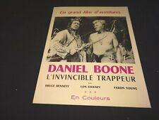 DANIEL BOONE invincible trappeur   dossier presse cinema 1956 western