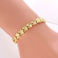 "Women's Chain Bracelet 18K Yellow Gold Filled 7.5"" Charm Link Fashion Jewelry"
