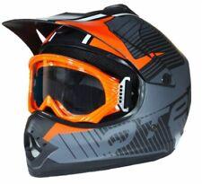 Caschi arancione di motocross e quad per la guida di veicoli taglia M
