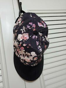 Lucky Brand  Black Floral Baseball Hat