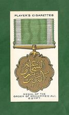 Medal of the ORDER of MOHAMMED ALI  EGYPT  Great War Medal  Decoration 1927 card