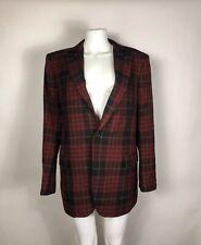 Rare Vtg Alexander McQueen Men's Tartan Jacket XXL 54