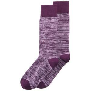 Alfani Mens Purple Space-Dyed Seamless Toe Pull On Casual Socks 10-13 BHFO 1178