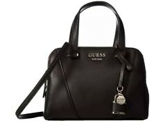 GUESS Shawna Cali Small Size Satchel Crossbody Bag Black Faux Leather
