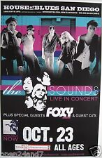 THE SOUNDS / FOXY SHAZAM 2009 SAN DIEGO CONCERT TOUR POSTER - Sweden Indie Music