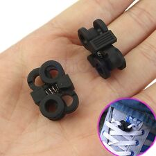 1 Pair Shoelace Buckle Stopper Rope Clamp Cord Lock Cross Design Sport