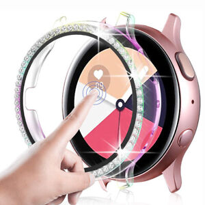 For Samsung Galaxy Watch Active 2 40/44mm Bling Snap On Bumper Case Screen Cover