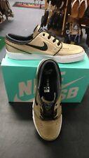 Men's Nike Zoom Stefan Janoski L Metallic Gold Black White Size 11