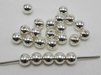 100 Bright Silver Metallic Acrylic Round Spacer Beads 10mm Smooth Ball Beads