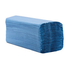 Paper Hand Towels, C Fold, 1 Ply Blue - BULK BUY (5 CASES) (code 5 X 413)