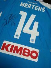 maglia Napoli camiseta  signed shirt autogramm Mertens