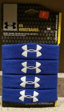 "UNDER ARMOUR ~ UA Performance Wristband ~ 4-Pack Blue ~ 1"" ~ Unisex ~ NIP"