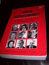 MODERN MACROECONOMICS Brian SNOWDON / Howard R VANE Student University Text Book