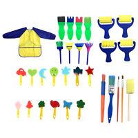 31Pcs Kids Paint Brushes Sponge Painting Brush Tool Set for Children Toddler DIY
