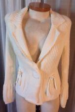 NEW Lady Cream Sweater Woman S Daisy Fuentes Off White Bolero Flare Sleeve Small