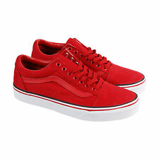Vans Old Skool Mens Red Canvas Lace Up Lace Up Sneakers Shoes 8.5