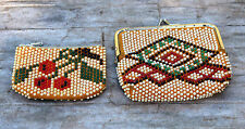 LOT OF 2 vintage plastic beads WALLETS