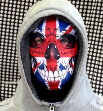 Union Jack Crâne Tissu Lycra complet Masque Visage Déguisement