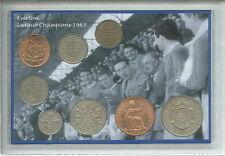 Everton (Les Caramels) Vintage Football League Champions Rétro Pièce Ensemble Cadeau 1963