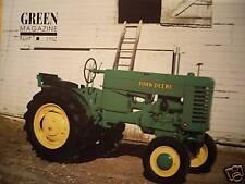 John Deere Late Styled B tractor - Green Magazine - thresher