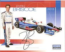 2013 RYAN BRISCOE signed INDIANAPOLIS 500 PHOTO CARD POSTCARD INDY CAR HONDA NTT