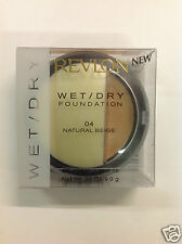REVLON Wet/dry Foundation Powder Compact Oil free SPF10 NATURAL BEIGE #04 NEW.