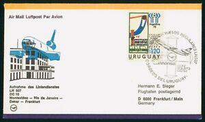 MayfairStamps Lufthansa 1978 Uruguay First Flight Cover Montevideo to Frankfurt