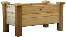 Planter Box 34 in. x 18 in. Unfinished Cedar with Drainage Hole and Fabric Liner