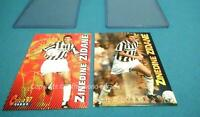 PANINI ZINEDINE ZIDANE PSA 10 ? LOT 2 CARDS CALCIO 97 FOOT NEUF NEW MINT
