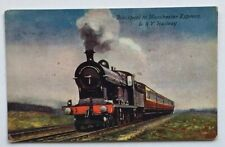 Steam Train Post Card Blackpool To Manchester Express Railway Artotype Series
