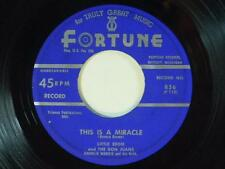 Little Eddie & The Don Juans 45 THIS IS A MIRACLE / CALYPSO BEAT ~ Fortune VG++
