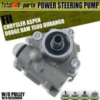 Power Steering Pump w/o Reservoir & Pulley for Dodge Ram 1500 Durango 2002-2008