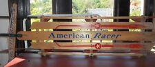 """Vintage AMERICAN RACER Sled TOBOGGAN 60"""" Wood & Metal"""