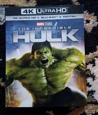 The Incredible Hulk (4K UHD Blu-ray/ Blu-Ray, 2018) No digital. Free shipping.