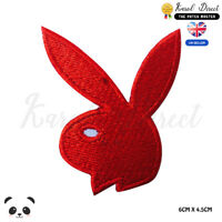 Playboy Bunny Logo Embroidered Iron On Sew On Patch Badge For Clothes Bags etc