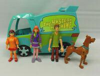 2007 Thinkway Toys Scooby Doo Mystery Machine Van With 4 Figures
