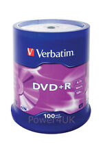 Verbatim dvd + r 16x 4.7GB dvd vierges media disques 100 broche pack