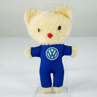 VW Werbe Figur Katze im Blaumann Volkswagen Teddy Plüschtier Vintage 50er 60er