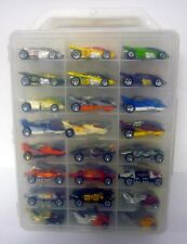 HOT WHEELS 48 CAR CARRY CASE WITH CARS Double Vision Lakester Silver Bullet Cars
