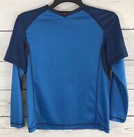 Youth Boys 10/12 Medium ZeroXposur Dri-Tech Blue Heathered Boys Longsleeve Shirt