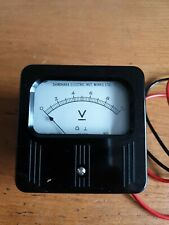 Vintage Shinohara Electric Inst.Works Ltd Voltmeter
