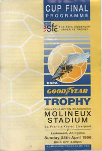 ESFA Under 16's Schools' Final 1996 @ Wolves - St Francis Xavier v Larkmead