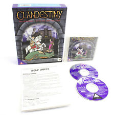 Clandestiny for PC CD-ROM in Big Box by Trilobyte, 1996, VGC