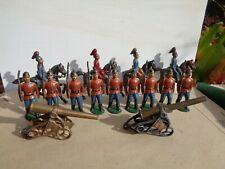 William Feix, Heyde 1905, American Infantry lot of 15, cannon lead soldiers, GT