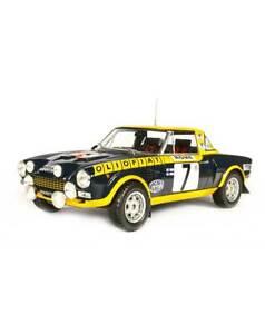 1/18 IXO FIAT 124 ABARTH - 1976 - M. ALÉN MonteCarlo 1976 Altaya cochesaescala