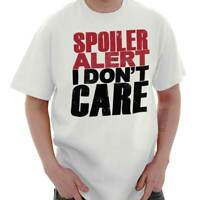 Spoiler Alert I Dont Care Personality Gift Short Sleeve T-Shirt Tees Tshirts
