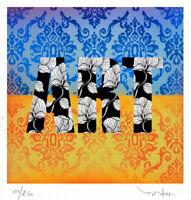 TABLEAU ART CONTEMPORAIN - ART -  Reproduction TEHOS serie limitee 250 ex